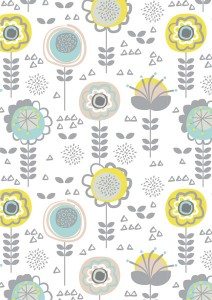 "Sian Saxon Surface Pattern 01 - ""Spring Flowers"""