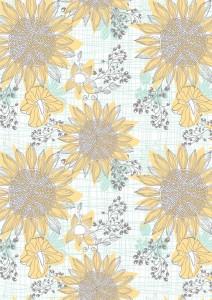 "Sian Saxon Surface Pattern 03 - ""Sunflower 02"""